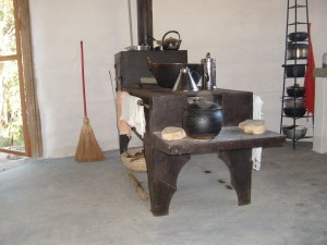 The very traditional Brazilian cooker 'Fogon a lena'